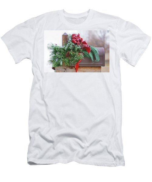 Men's T-Shirt (Slim Fit) featuring the photograph Holiday Mail by Nikolyn McDonald