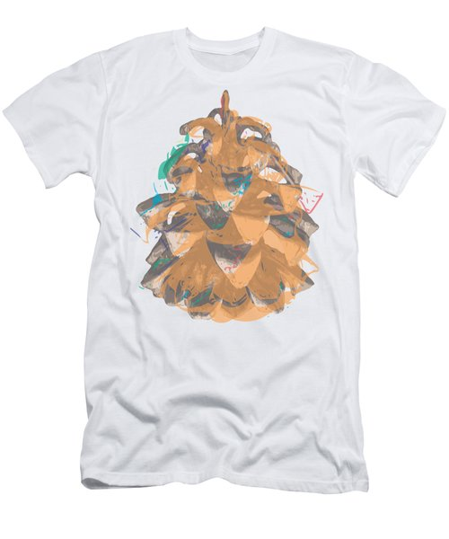 Holiday Yellow Cone Men's T-Shirt (Slim Fit) by Stan  Magnan