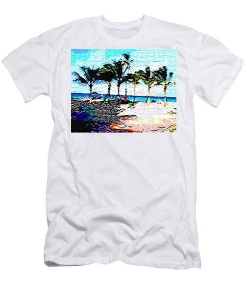 Hollywood Beach Fla Digital Men's T-Shirt (Slim Fit) by Dick Sauer