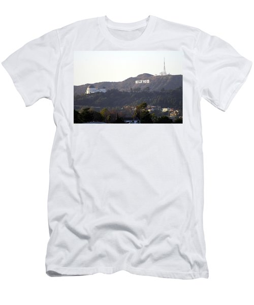 Hollywood Hills And Griffith Observatory Men's T-Shirt (Athletic Fit)