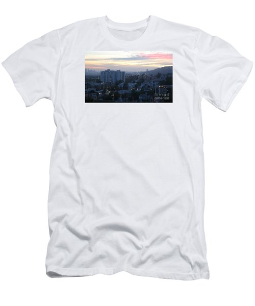Hollywood Sunset Men's T-Shirt (Slim Fit) by Cheryl Del Toro