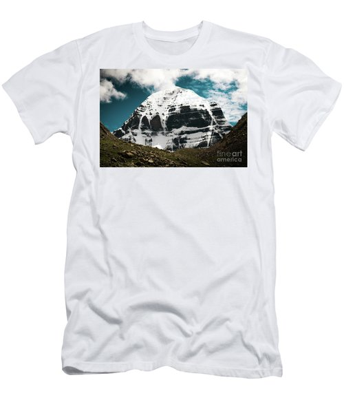Holy Kailas North Slop Himalayas Tibet Yantra.lv Men's T-Shirt (Athletic Fit)