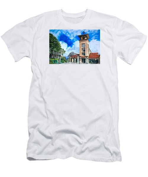 Men's T-Shirt (Slim Fit) featuring the painting Holy Trinity by Lance Gebhardt