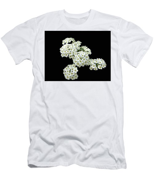 Home Grown White Flowers  Men's T-Shirt (Athletic Fit)
