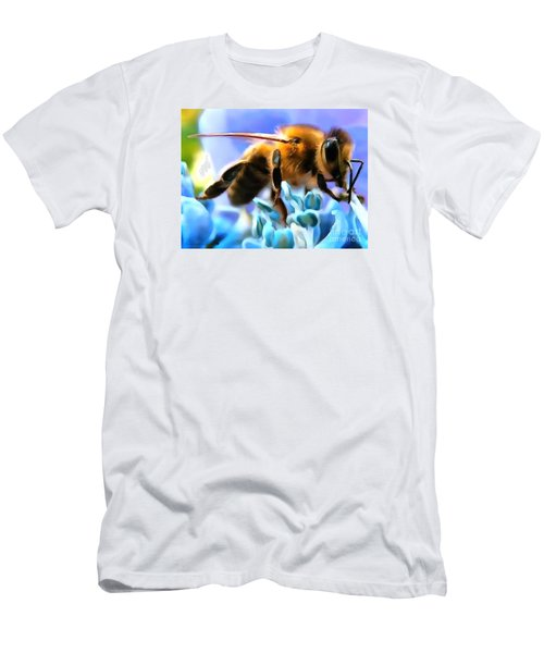 Honey Bee In Interior Design Thick Paint Men's T-Shirt (Athletic Fit)