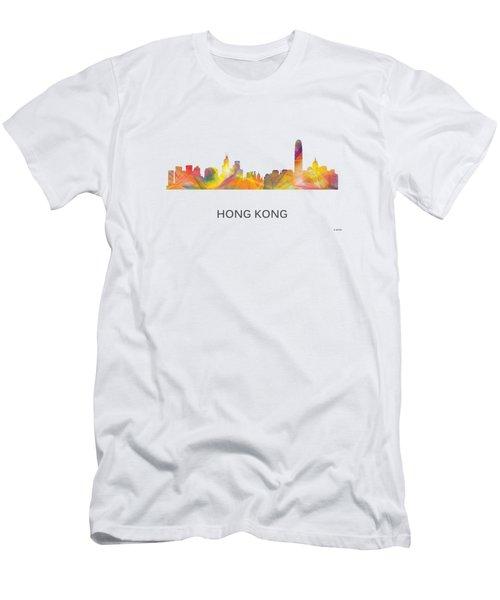 Hong Kong China Skyline Men's T-Shirt (Athletic Fit)