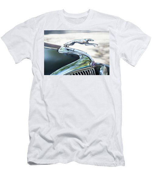 Men's T-Shirt (Slim Fit) featuring the photograph Hood Ornament Ford by Theresa Tahara
