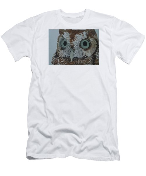 Hooty Who? - Screech Owl Detail Men's T-Shirt (Athletic Fit)