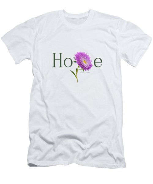 Men's T-Shirt (Slim Fit) featuring the digital art Hope Shirt by Ann Lauwers