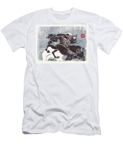 Horse And Red Sun Men's T-Shirt (Athletic Fit)