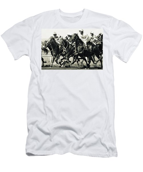Horse Competition Vi - Horse Race Men's T-Shirt (Athletic Fit)