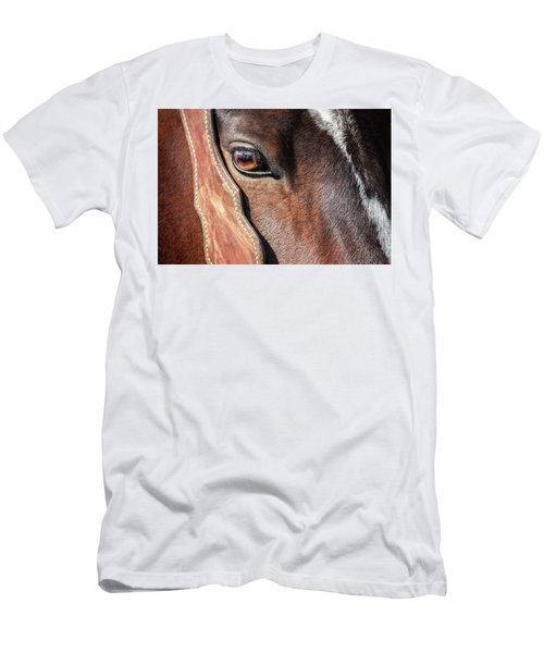Men's T-Shirt (Athletic Fit) featuring the photograph Horse Eye by Todd Klassy