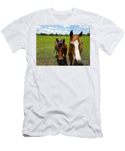 Horse Friendship Men's T-Shirt (Athletic Fit)
