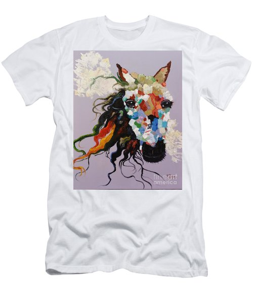 Puzzle Horse Head  Men's T-Shirt (Athletic Fit)