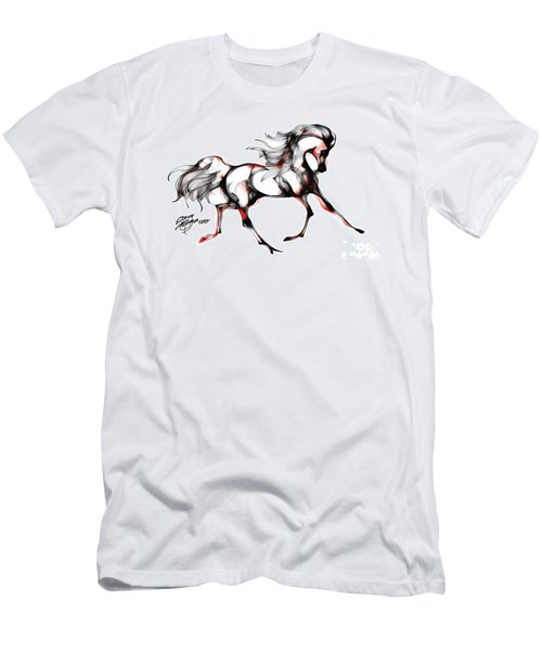 Horse In Extended Trot Men's T-Shirt (Athletic Fit)