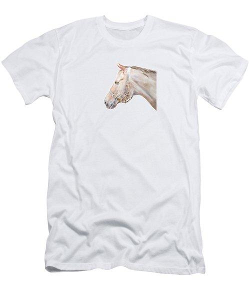 Horse Portrait I Men's T-Shirt (Slim Fit) by Elizabeth Lock