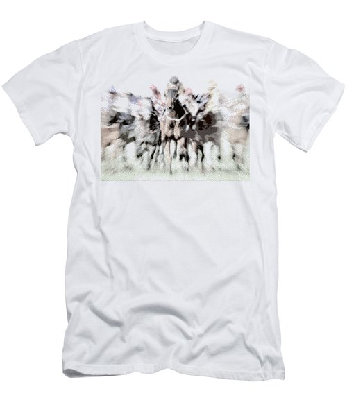 Horse Racing - Parallel Hatching Men's T-Shirt (Athletic Fit)