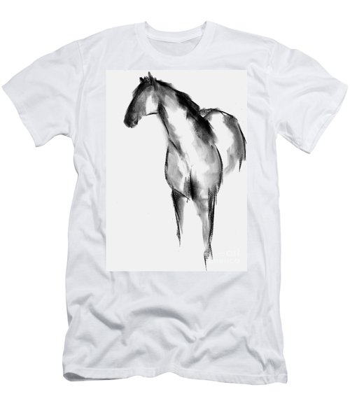 Horse Sketch Men's T-Shirt (Slim Fit) by Frances Marino