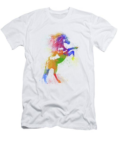 Horse Watercolor 1 Men's T-Shirt (Athletic Fit)