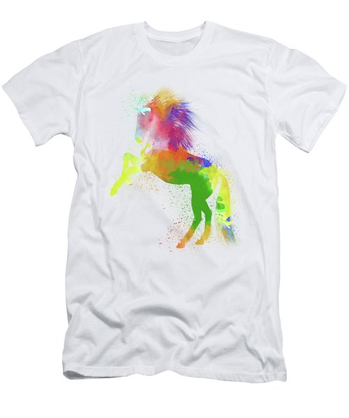 Horse Watercolor 2 Men's T-Shirt (Athletic Fit)
