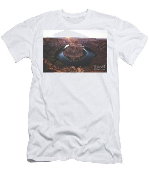 Horseshoe Bend Sunset Men's T-Shirt (Athletic Fit)