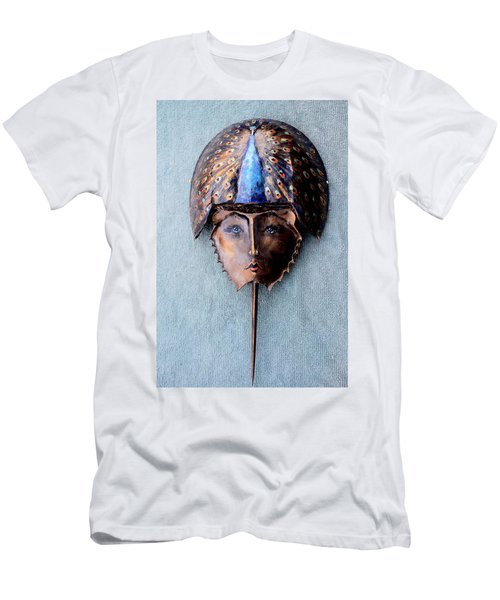 Horseshoe Crab Mask Peacock Helmet Men's T-Shirt (Athletic Fit)