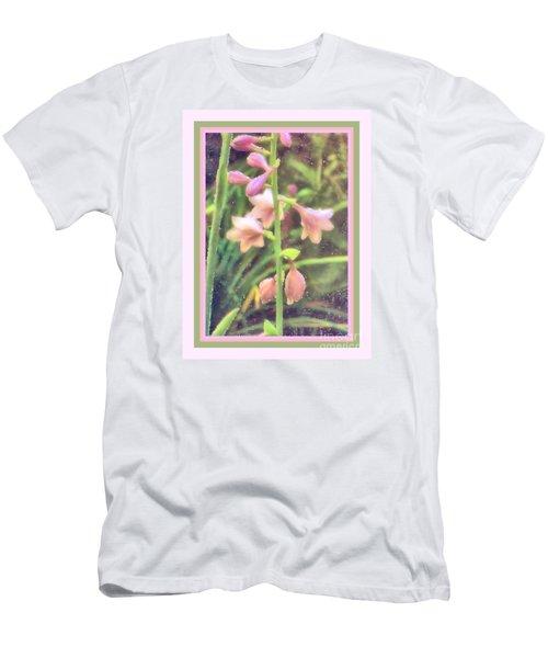 Hosta Bloom Pink Frame Men's T-Shirt (Athletic Fit)