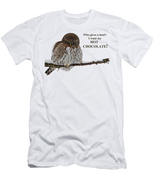 Hot Chocolate Owl Men's T-Shirt (Athletic Fit)