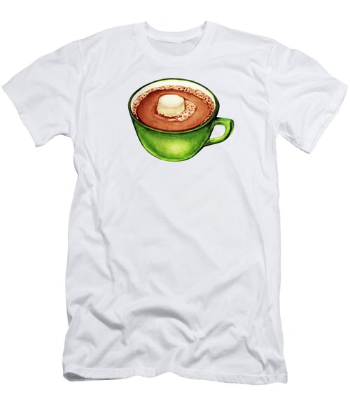 Hot Cocoa Pattern Men's T-Shirt (Athletic Fit)