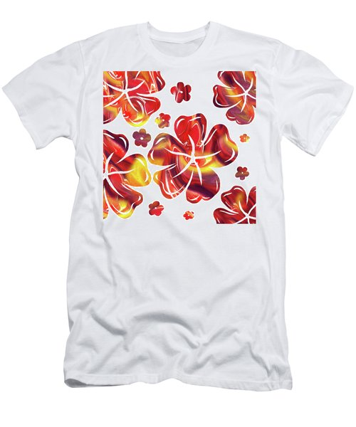 Hot Flowers Dancing Silhouettes Men's T-Shirt (Athletic Fit)