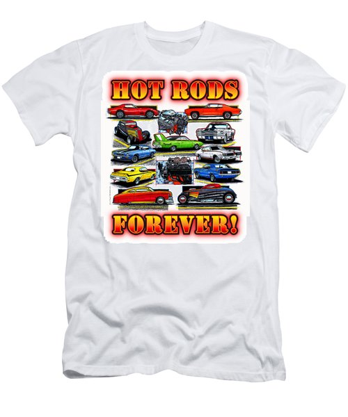 Hot Rods Forever Men's T-Shirt (Athletic Fit)