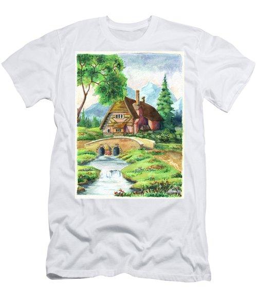 House Along The River Men's T-Shirt (Athletic Fit)