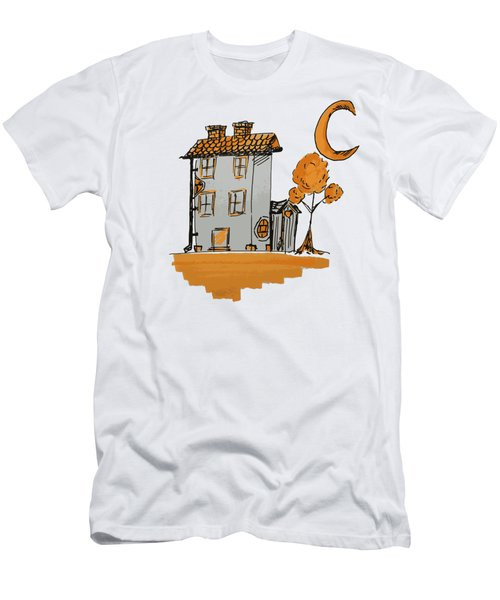 House And Moon Men's T-Shirt (Athletic Fit)