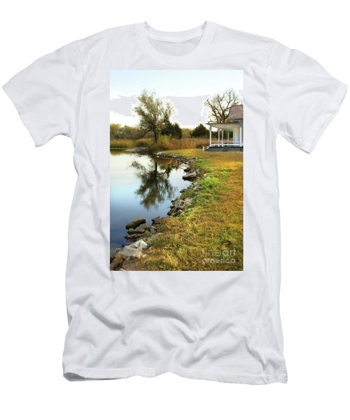 House By The Edge Of The Lake Men's T-Shirt (Slim Fit) by Jill Battaglia