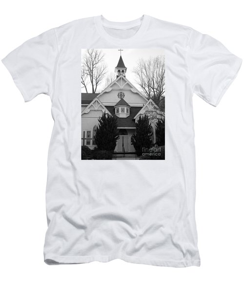 Men's T-Shirt (Slim Fit) featuring the photograph House Of Prayer by Emmy Marie Vickers