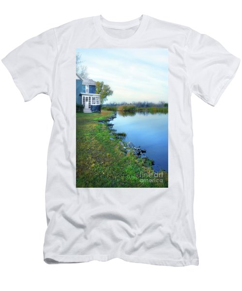 Men's T-Shirt (Slim Fit) featuring the photograph House On A Lake by Jill Battaglia