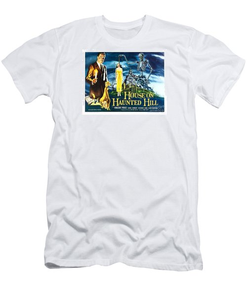 House On Haunted Hill Poster Classic Horror Movie  Men's T-Shirt (Athletic Fit)