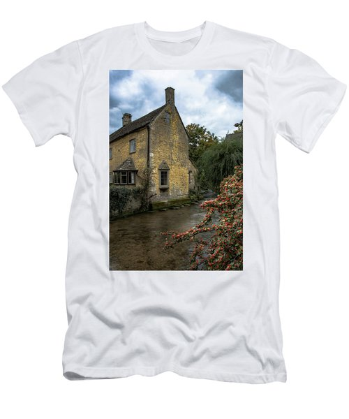 Men's T-Shirt (Athletic Fit) featuring the photograph House On The Water by Melissa Lane