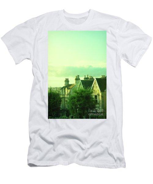 Men's T-Shirt (Slim Fit) featuring the photograph Houses by Jill Battaglia