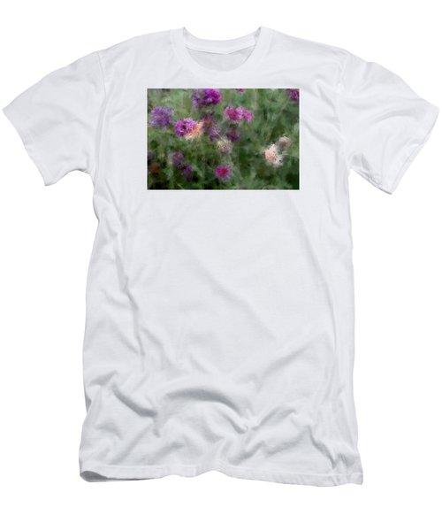 How I Love Flowers Men's T-Shirt (Slim Fit) by The Art Of Marilyn Ridoutt-Greene