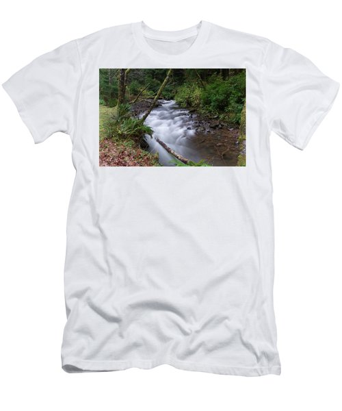 Men's T-Shirt (Slim Fit) featuring the photograph How The River Flows by Jeff Swan