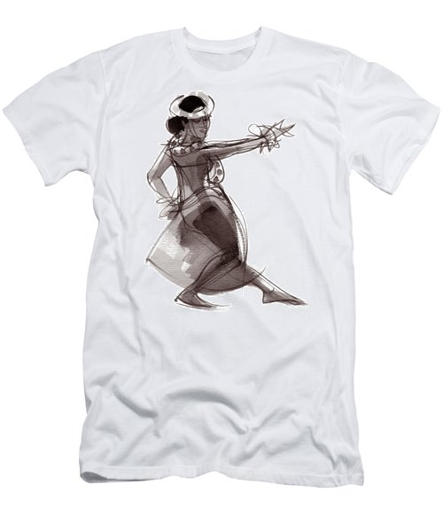 Men's T-Shirt (Athletic Fit) featuring the painting Hula Dancer Keala by Judith Kunzle