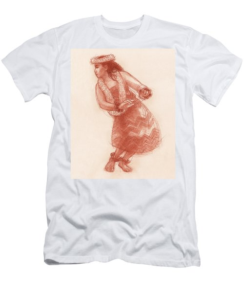 Men's T-Shirt (Athletic Fit) featuring the drawing Hula Waikoloa by Judith Kunzle