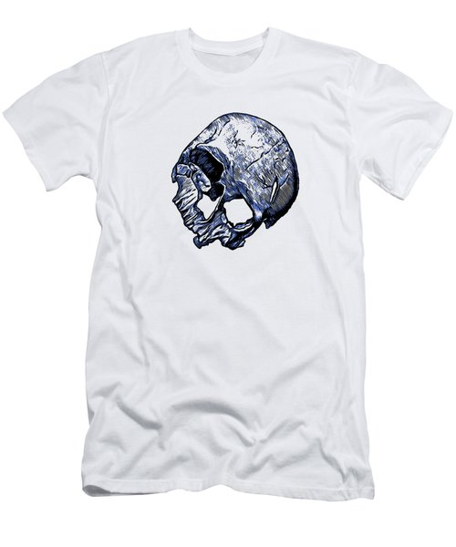 Human Skull Men's T-Shirt (Slim Fit) by Tracey Harrington-Simpson