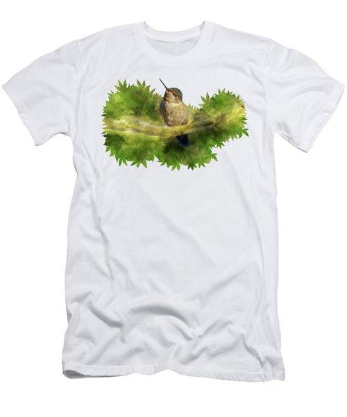 Hummingbird In A Tree Men's T-Shirt (Athletic Fit)