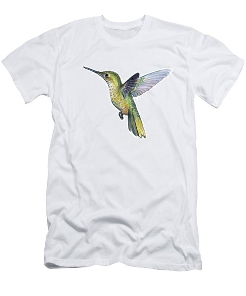 Hummingbird Watercolor Illustration Men's T-Shirt (Athletic Fit)