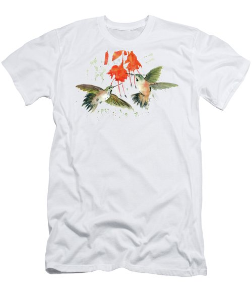 Hummingbird Watercolor Men's T-Shirt (Athletic Fit)
