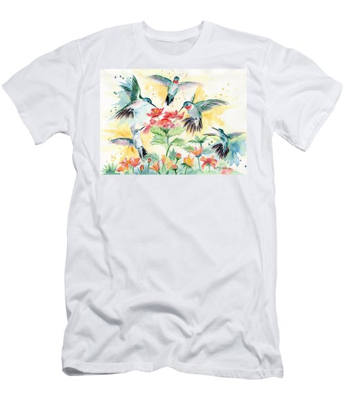 Hummingbirds Party Men's T-Shirt (Slim Fit) by Melly Terpening