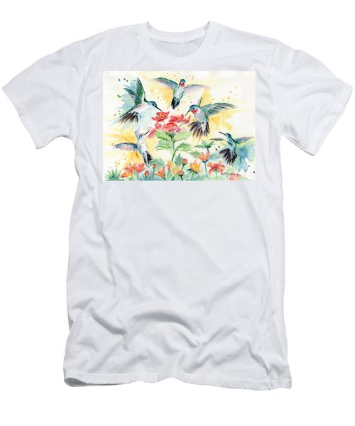 Hummingbirds Party Men's T-Shirt (Athletic Fit)