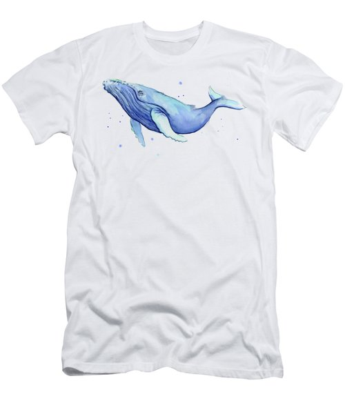 Humpback Whale Watercolor Men's T-Shirt (Athletic Fit)